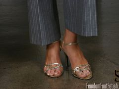 Summer shows you her beautiful feet. She describes to you in detail all about her feet- how t....